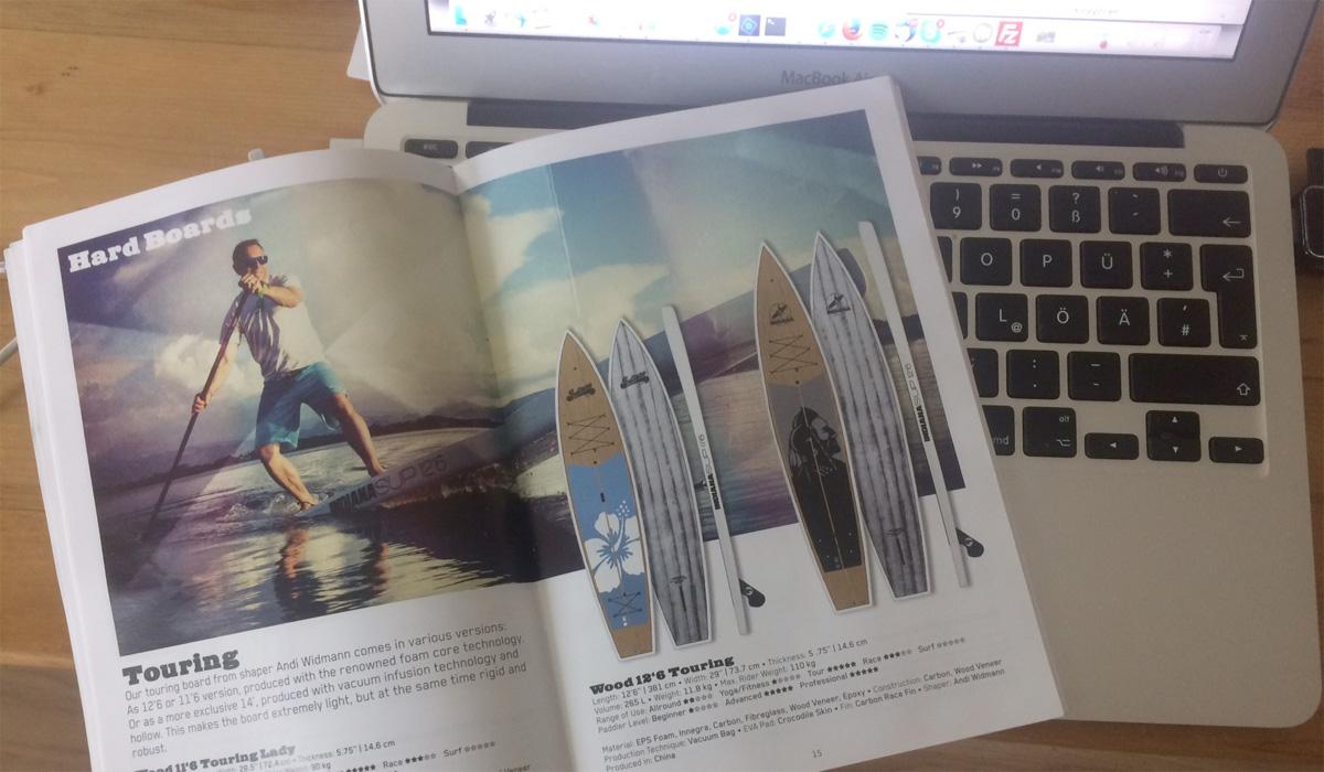 Der aktuelle Produkt Katalog der Schweizer Indiana SUP